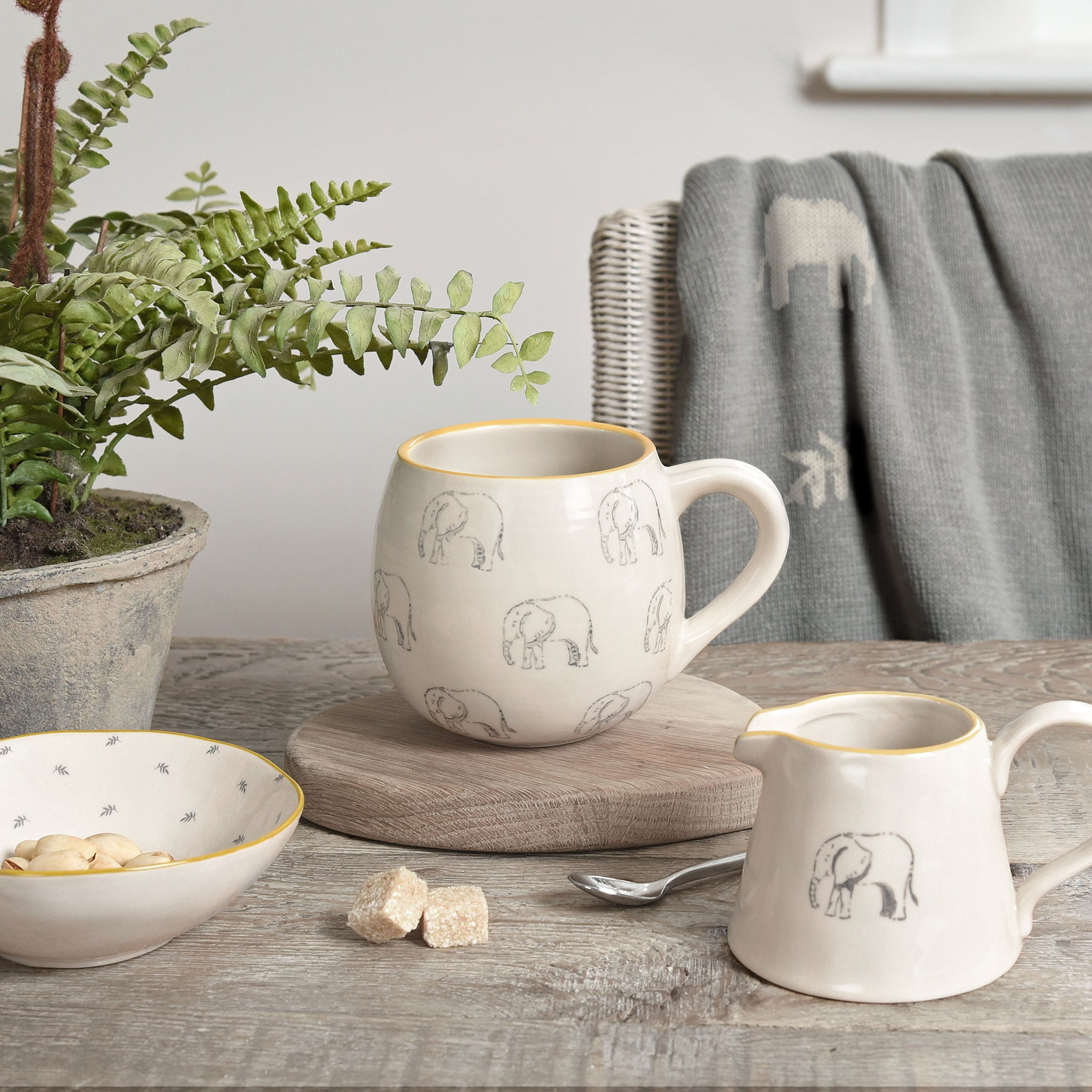 Elephant Stoneware Nibbles Bowl by Sophie Allport