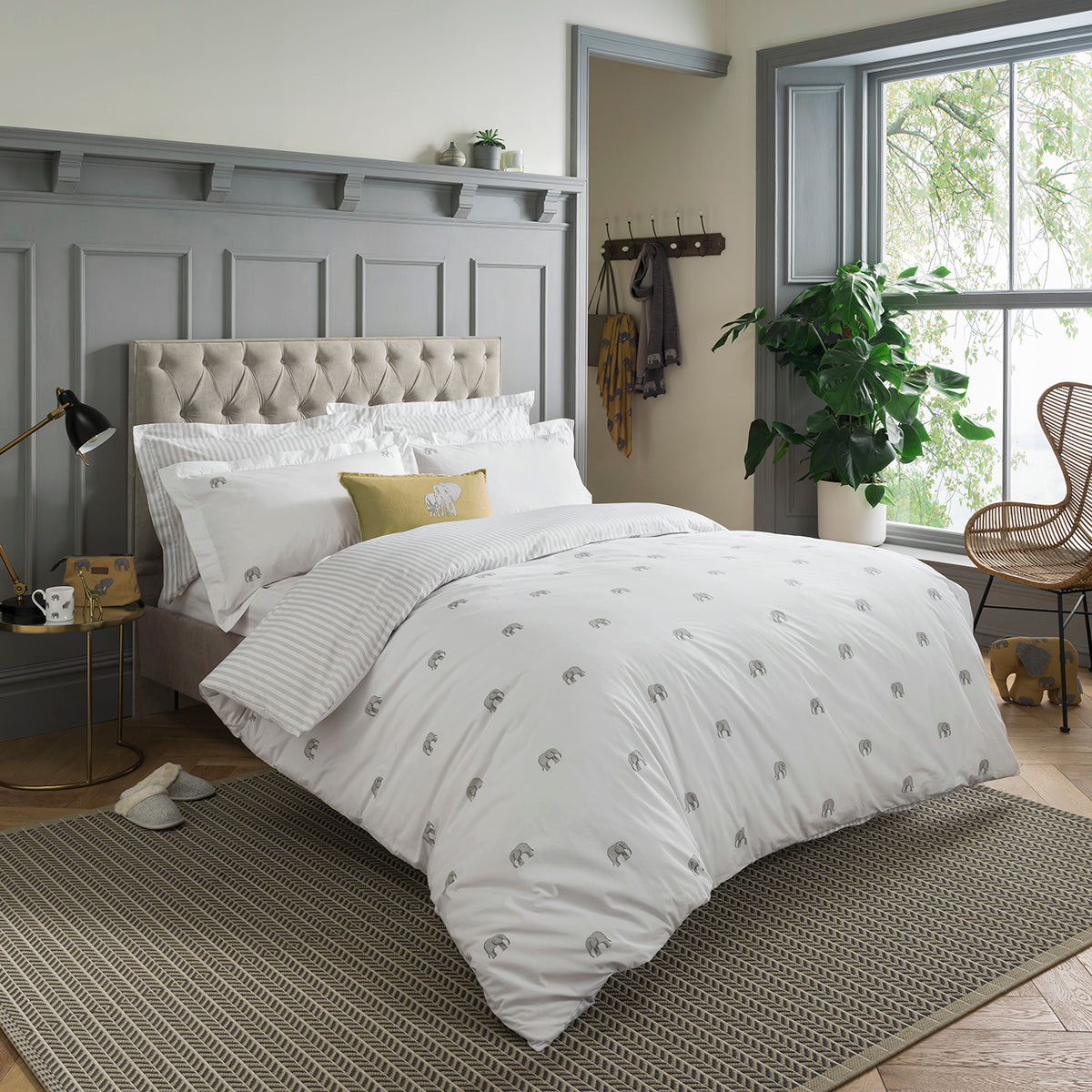 Elephant Bedding Set by Sophie Allport