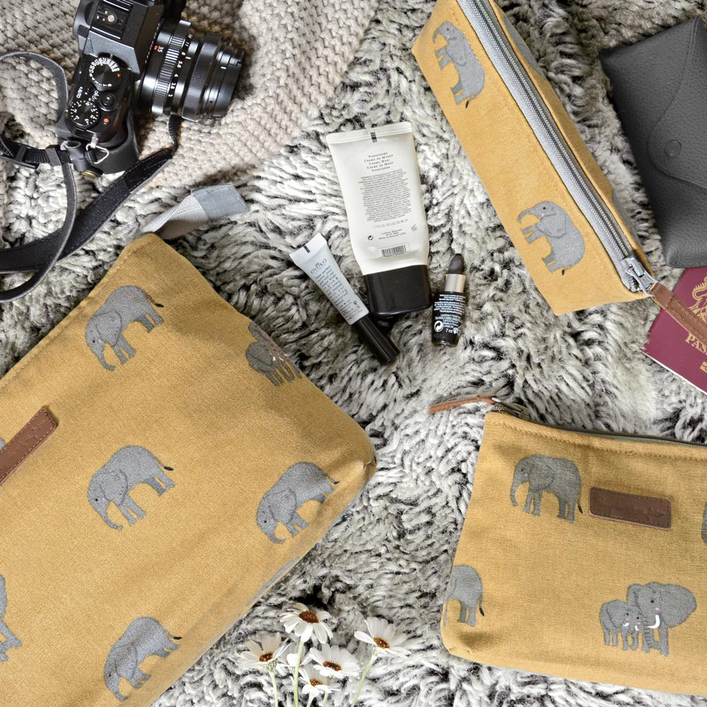 Elephant Canvas Wash Bag