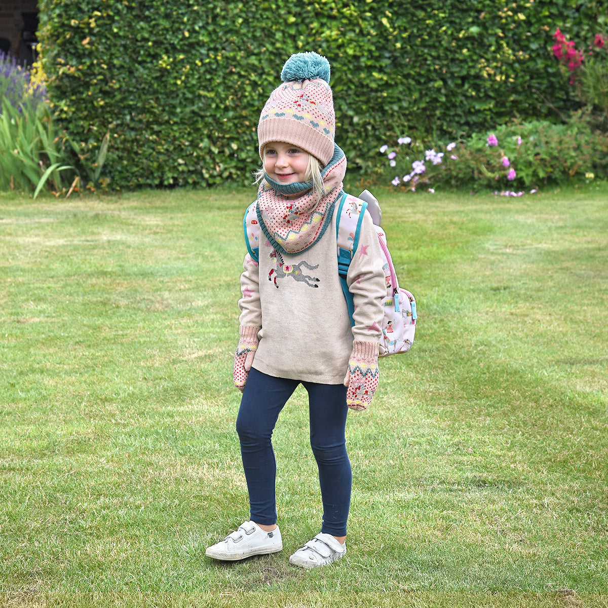 Fairground Ponies Knitted Kids Snood
