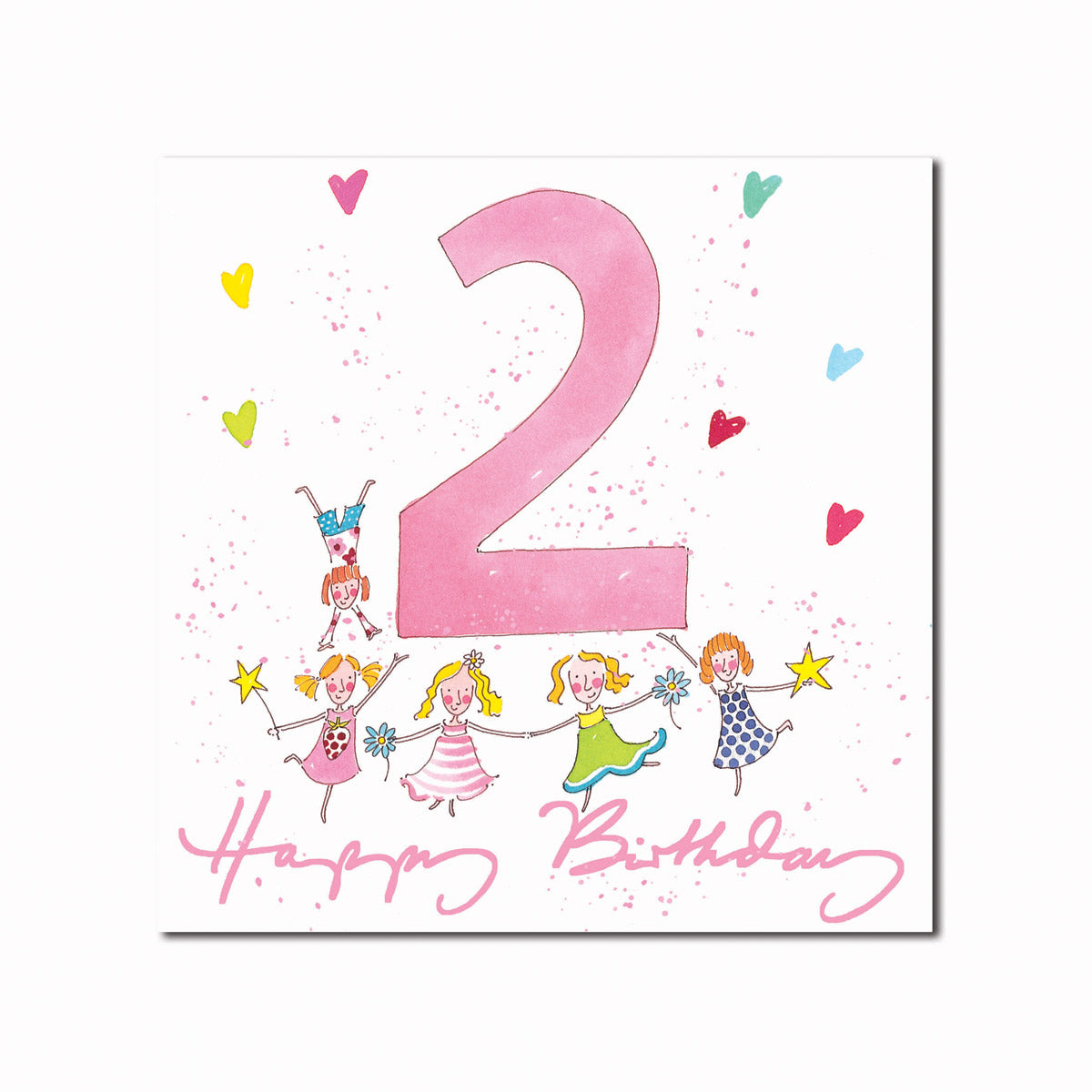 Happy 2nd Birthday Girl Greeting Card
