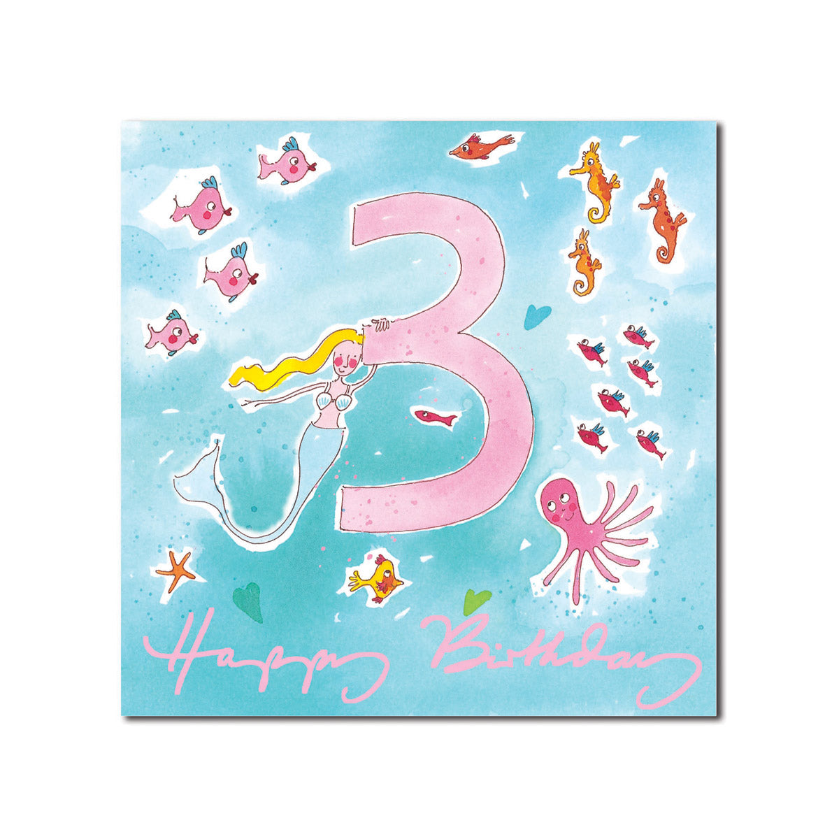 Happy 3rd Birthday Girl Greeting Card