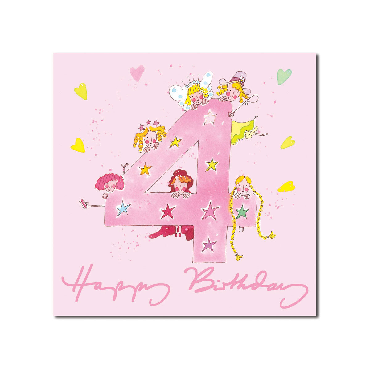 Happy 4th Birthday Girl Greeting Card