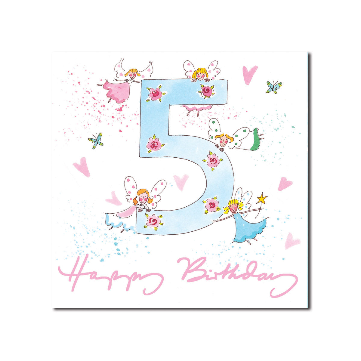 Happy 5th Birthday Girl Greeting Card