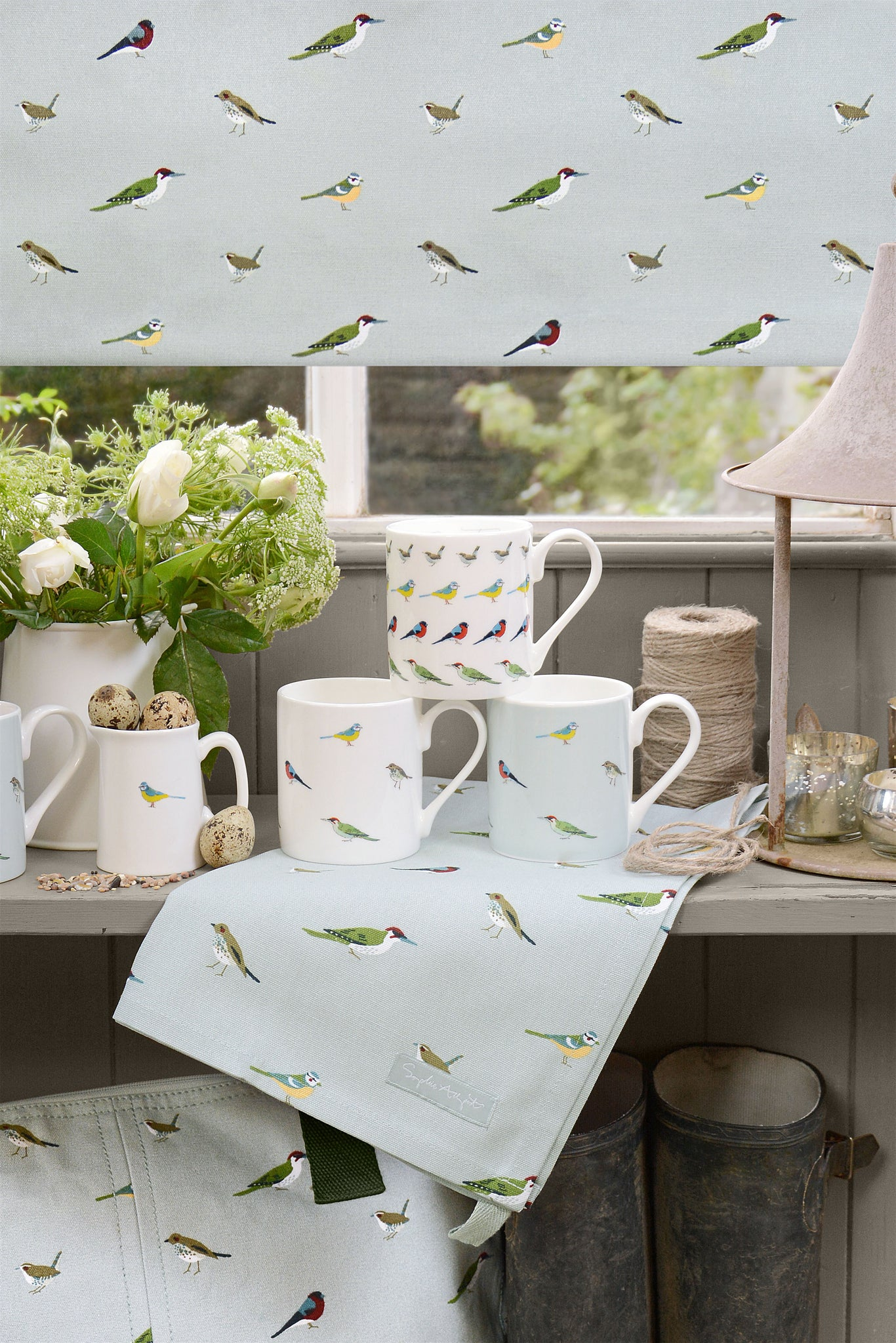 Garden Birds Fabric by the Metre