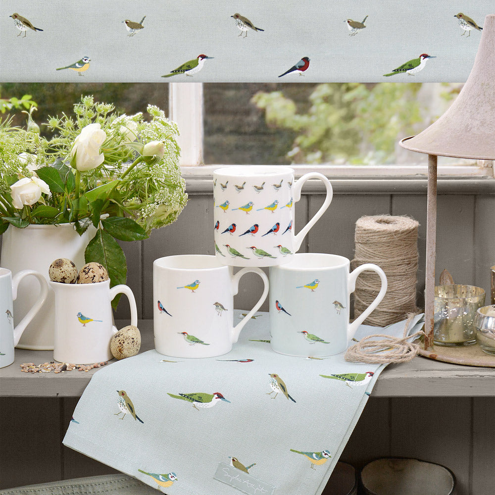 Garden Birds Coloured Mug