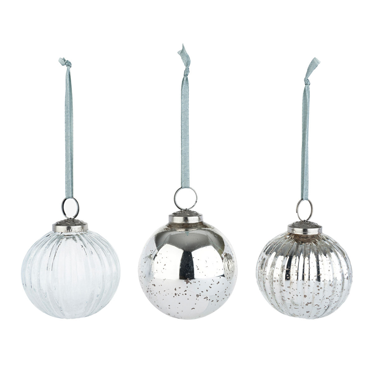 Circular Glass Baubles - Set of 3