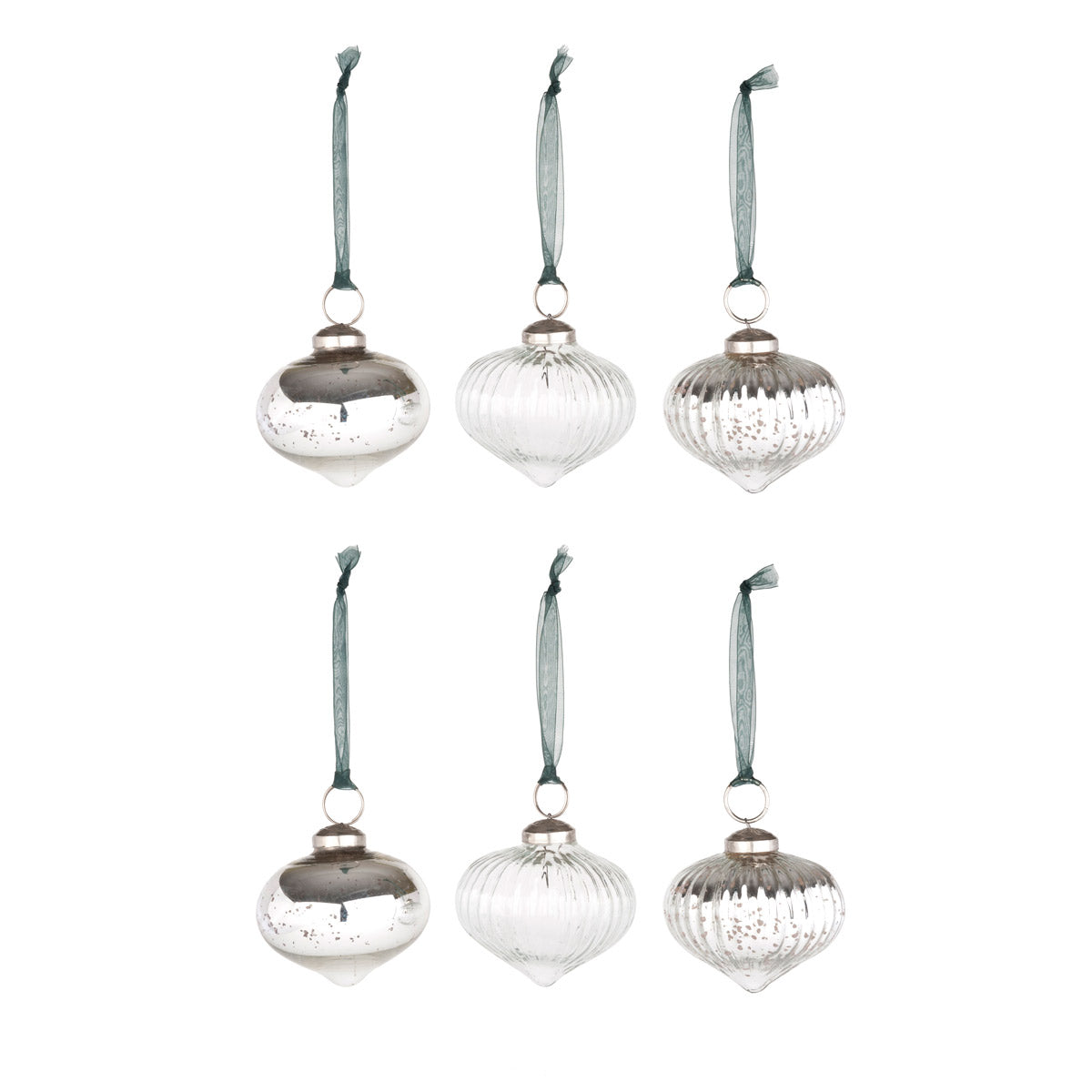 Onion Bauble Decoration - Set of 6