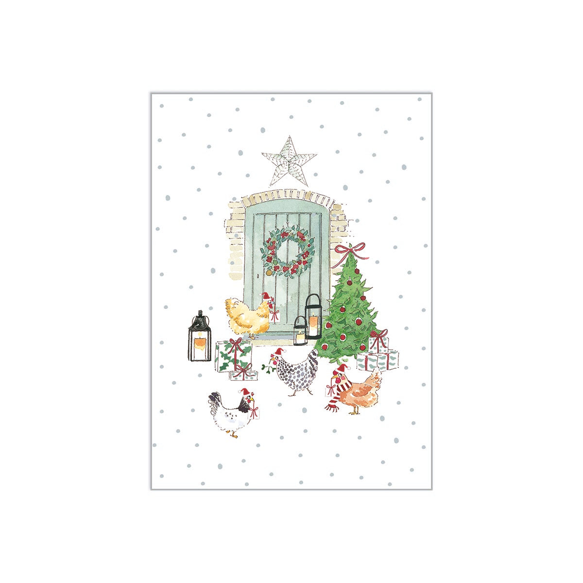 Chickens Christmas Cards (Pack of 6)