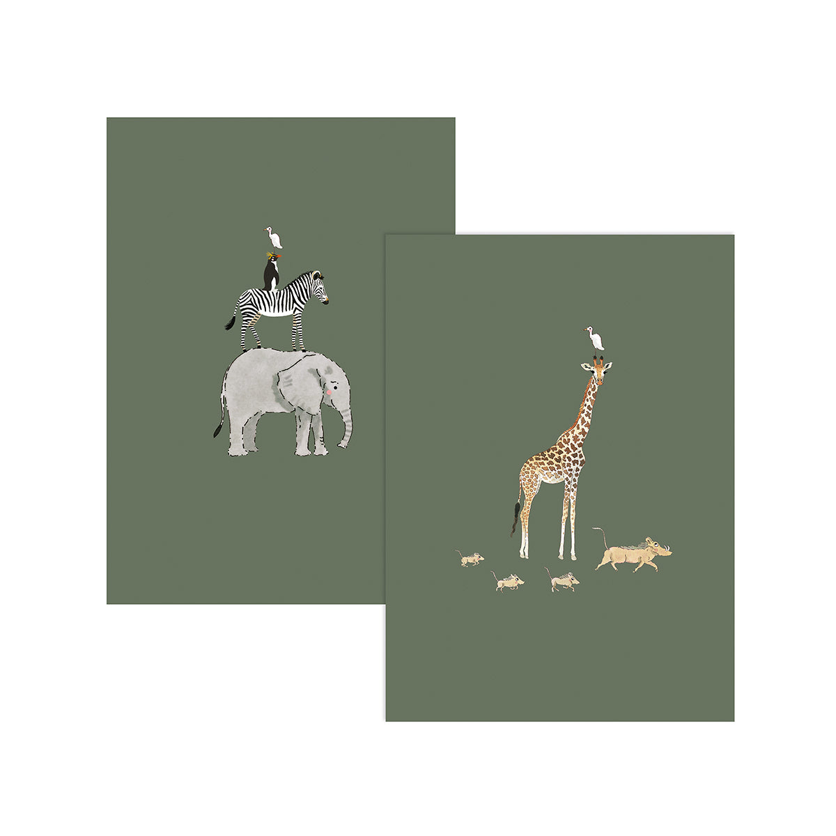 Wild Animals Greeting Cards (Pack of 6)
