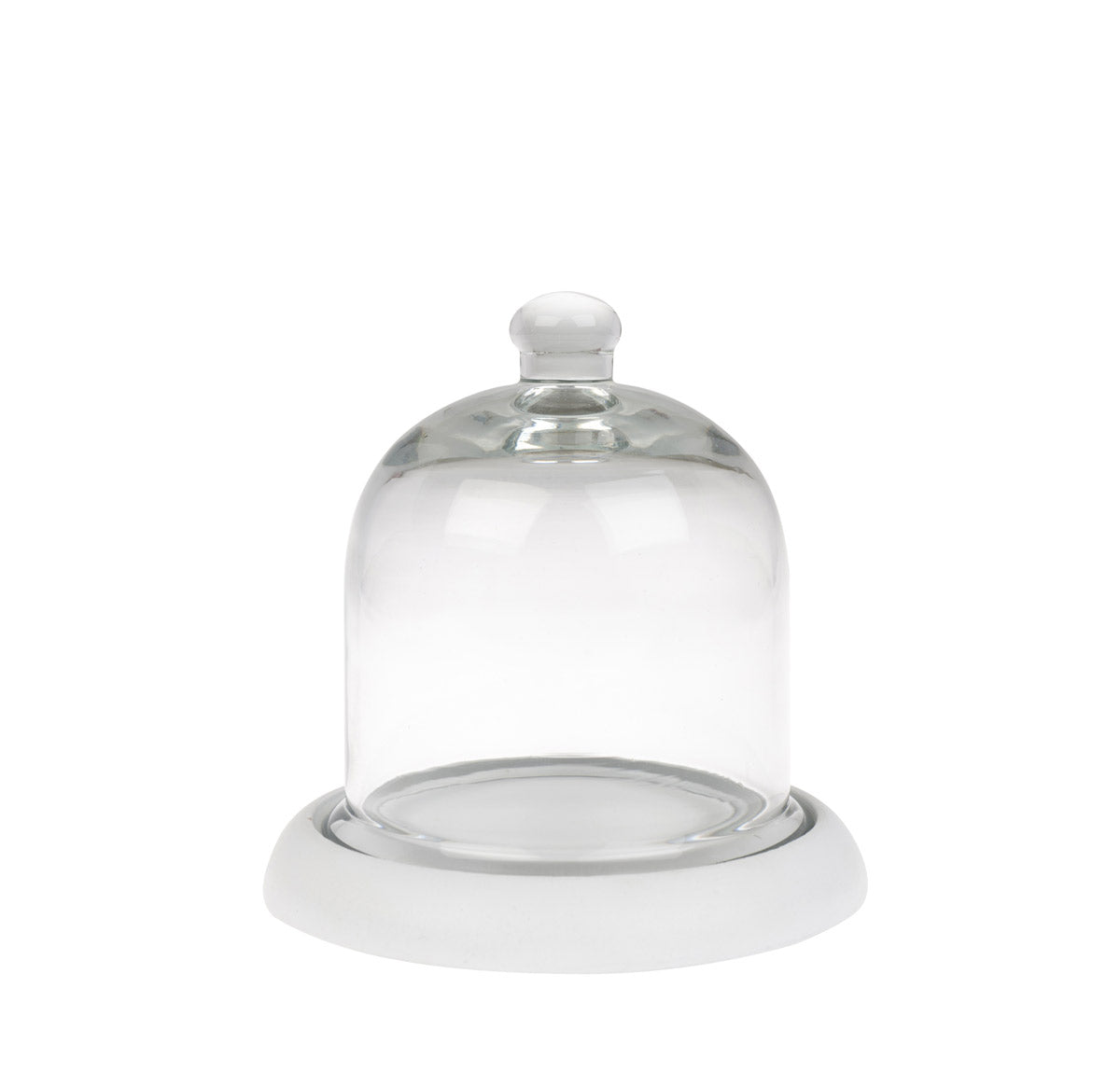 Mini Glass Cloche With Wooden Base