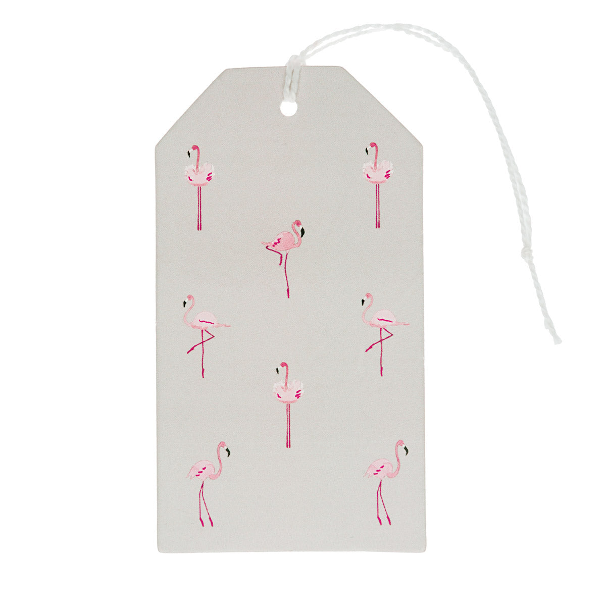 Flamingos Gift Tag - Set Of 8