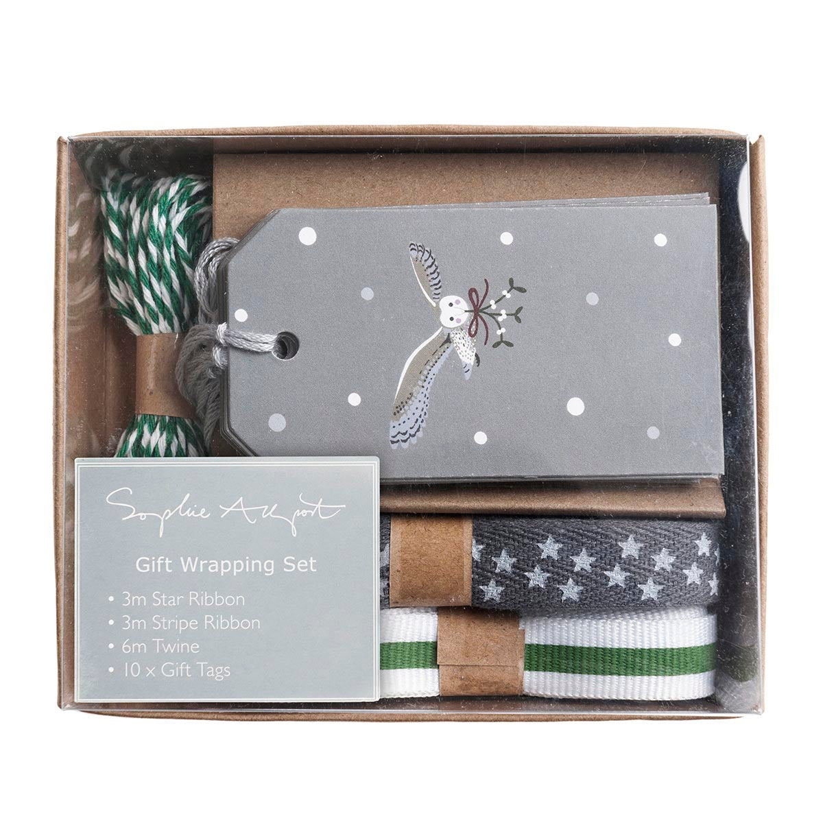 Night Owl Ribbon and Tag Gift Wrapping Set