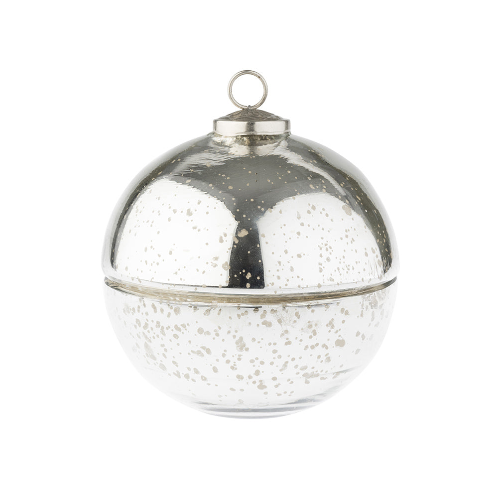 Silver Bauble Candle - Medium