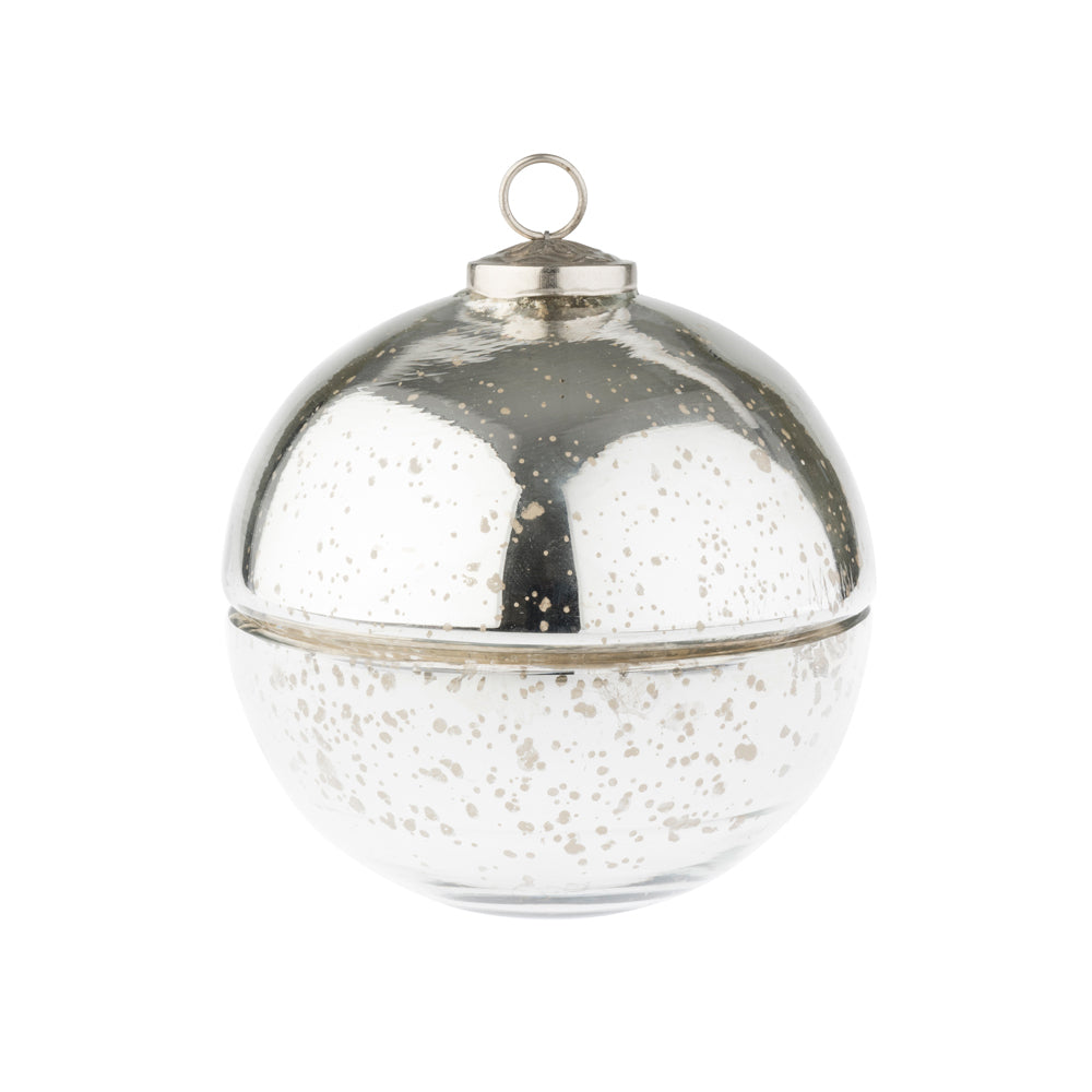 Silver Bauble Candle