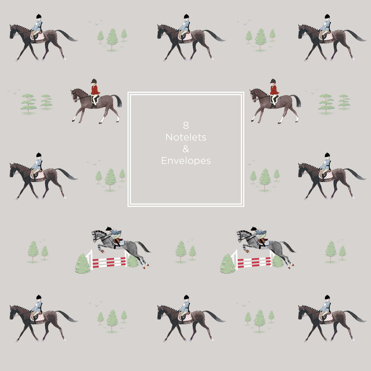 Horses Notelet Wallet - 8 notelets & envelopes