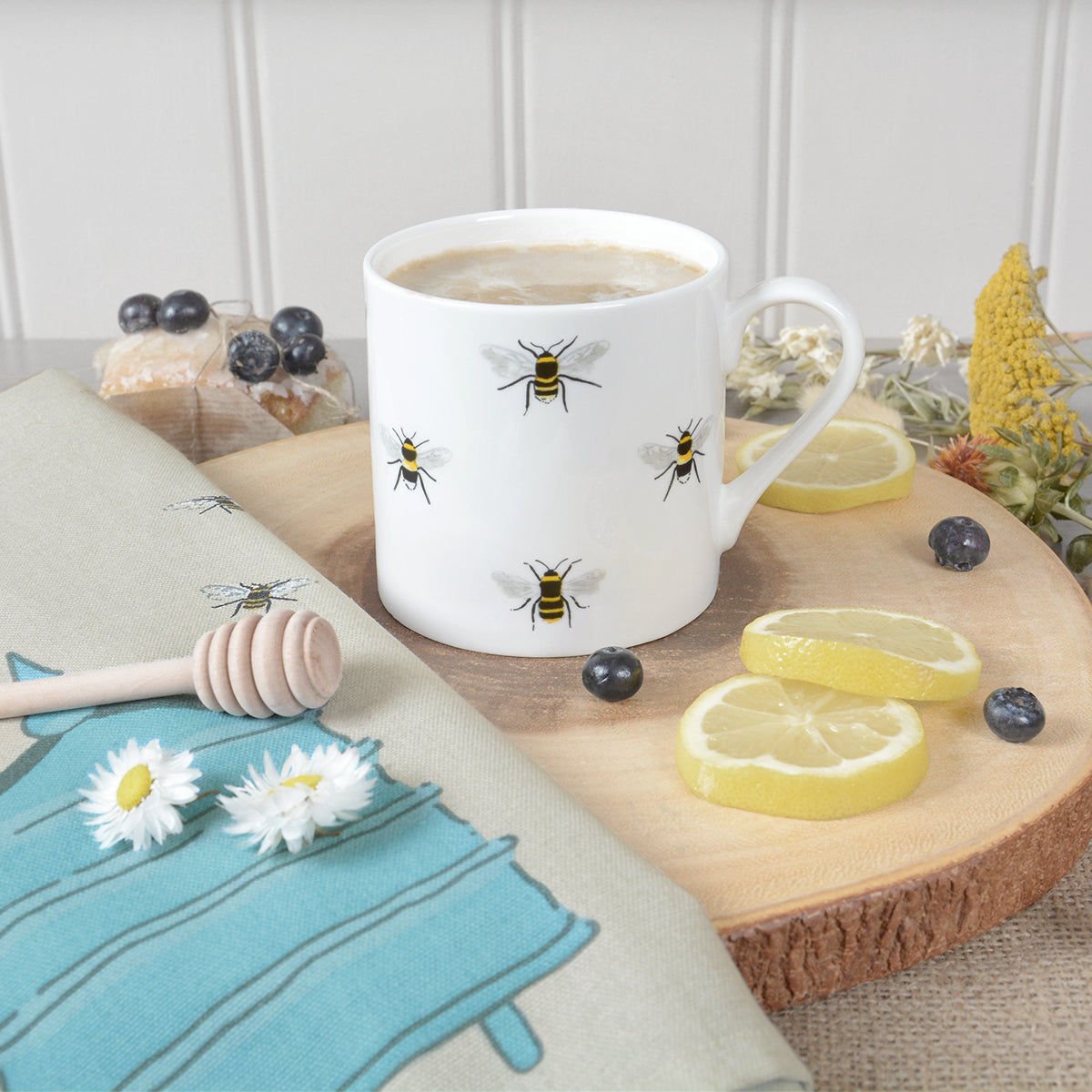 Bees Mug made from fine bone china