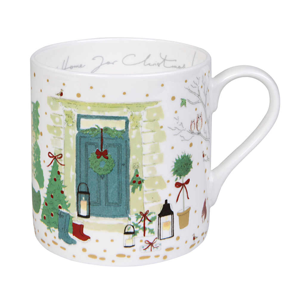 "Holly & Berry ""Home for Christmas!"" Mug"
