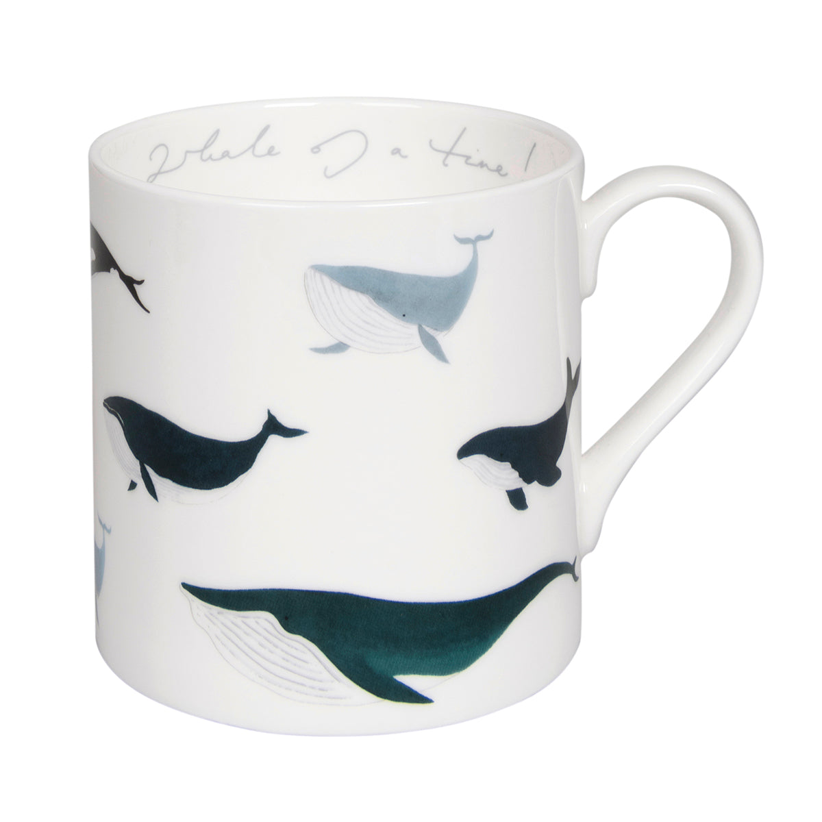 Fine bone china mug in Sophie Allport's Whales design