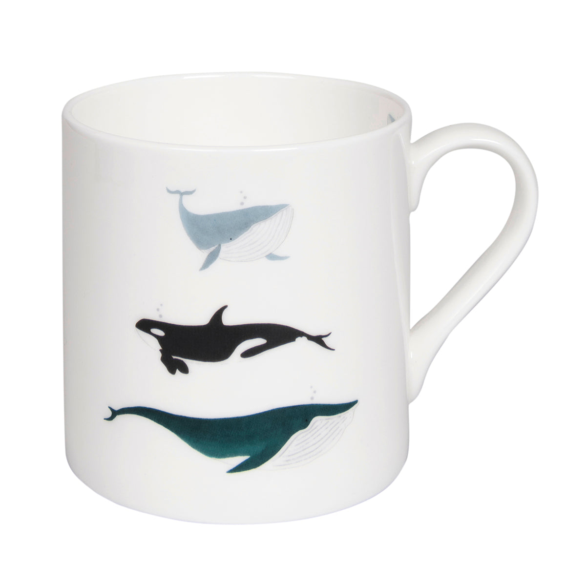 Whales Solo Fine Bone China Mug by Sophie Allport