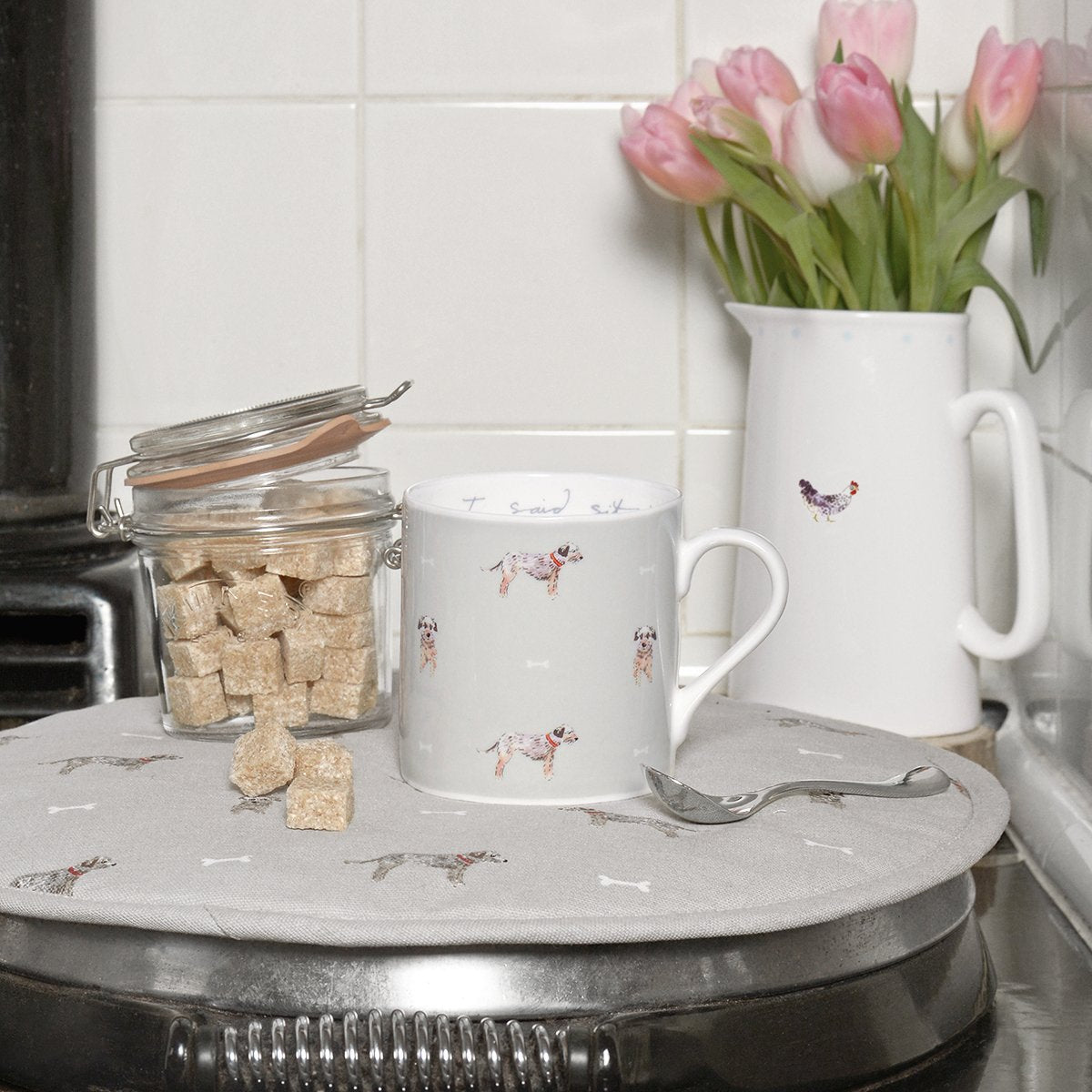 I Said Sit Terrier Coloured Mug by Sophie Allport