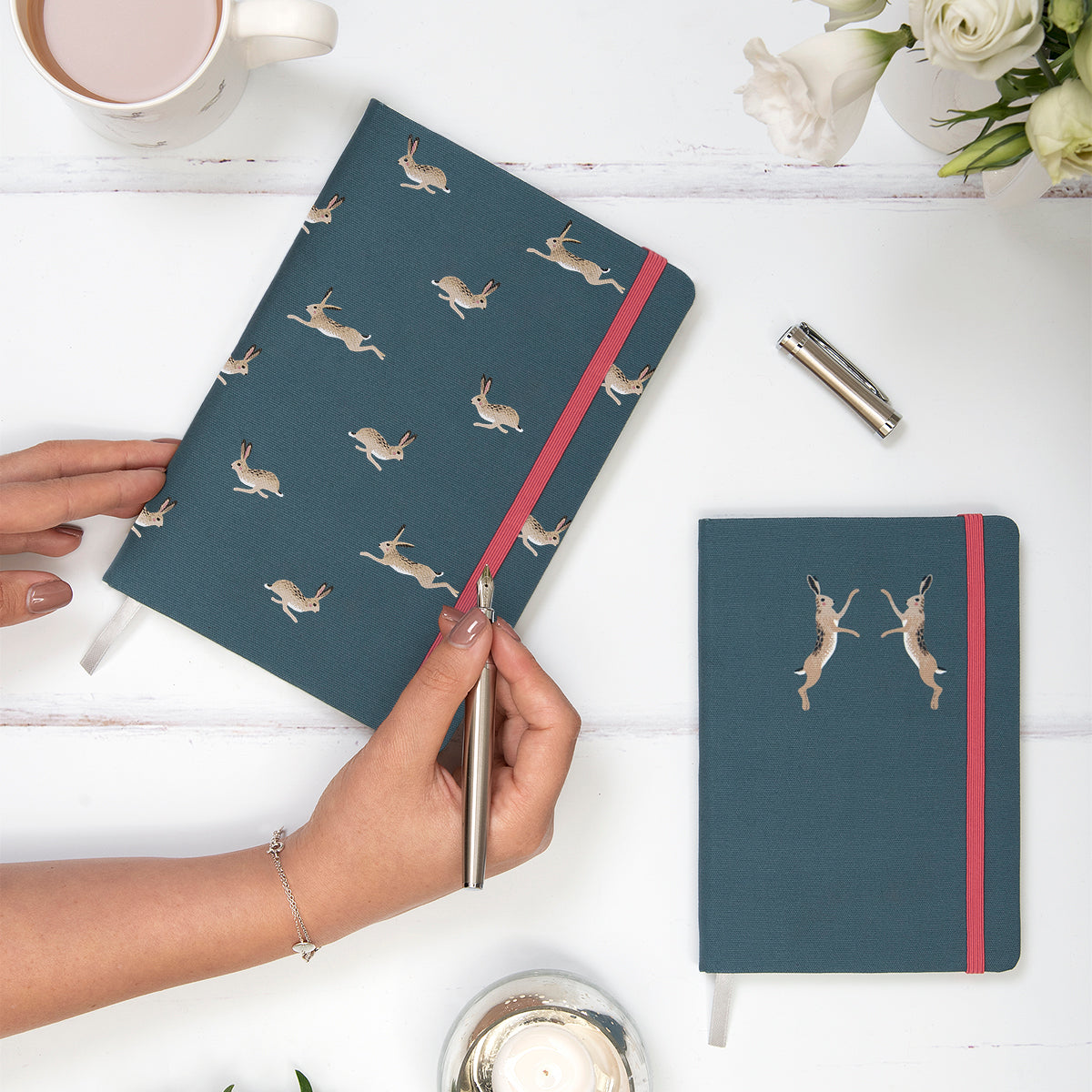 Hare Small Fabric Notebook