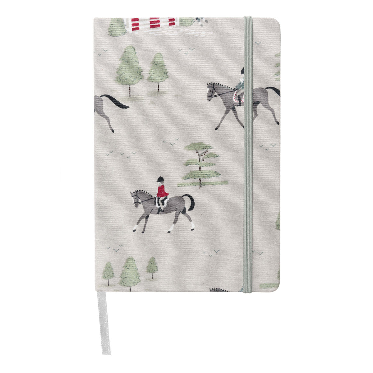 Horses Fabric A5 Notebook