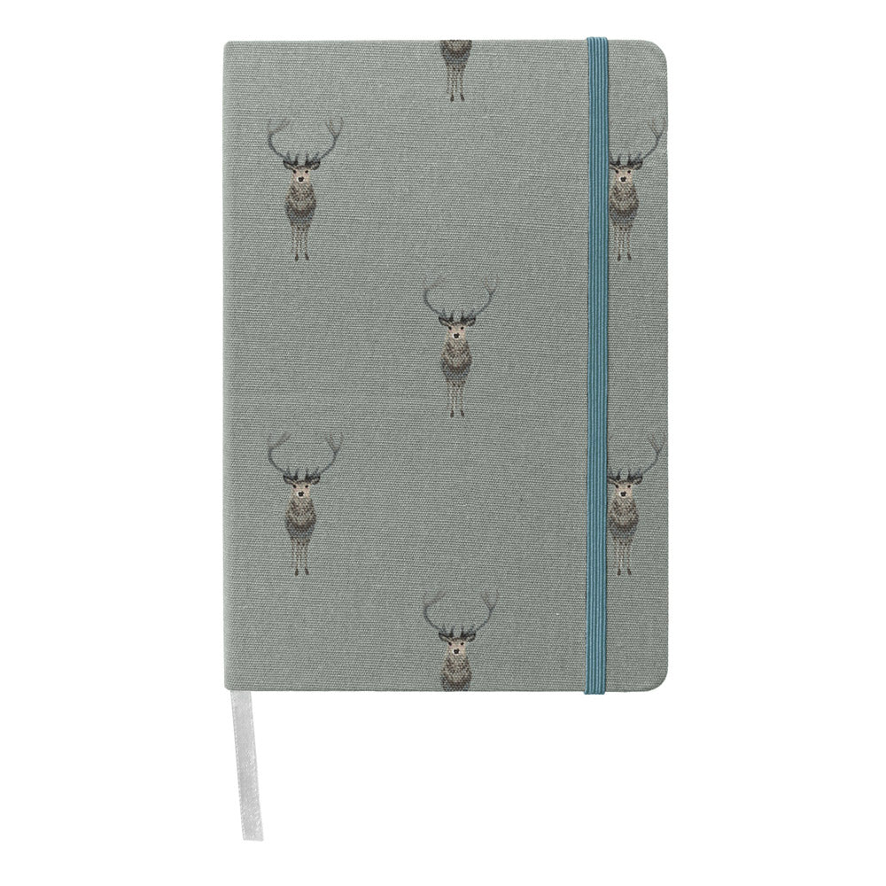 Highland Stag Fabric A5 Notebook