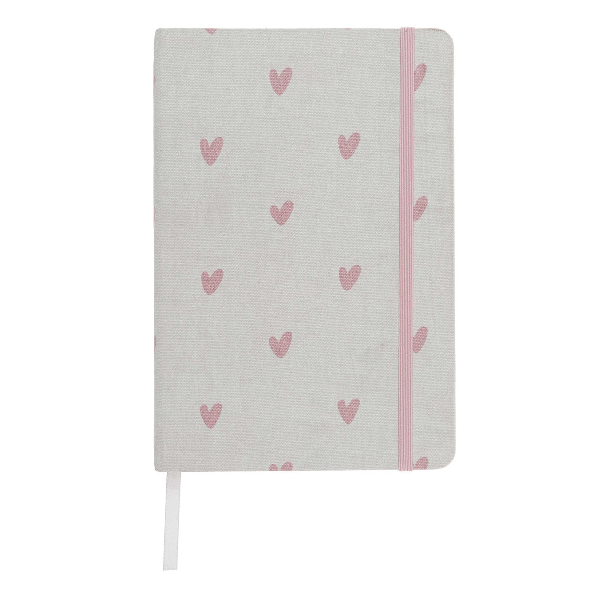 Hearts Fabric A5 Notebook