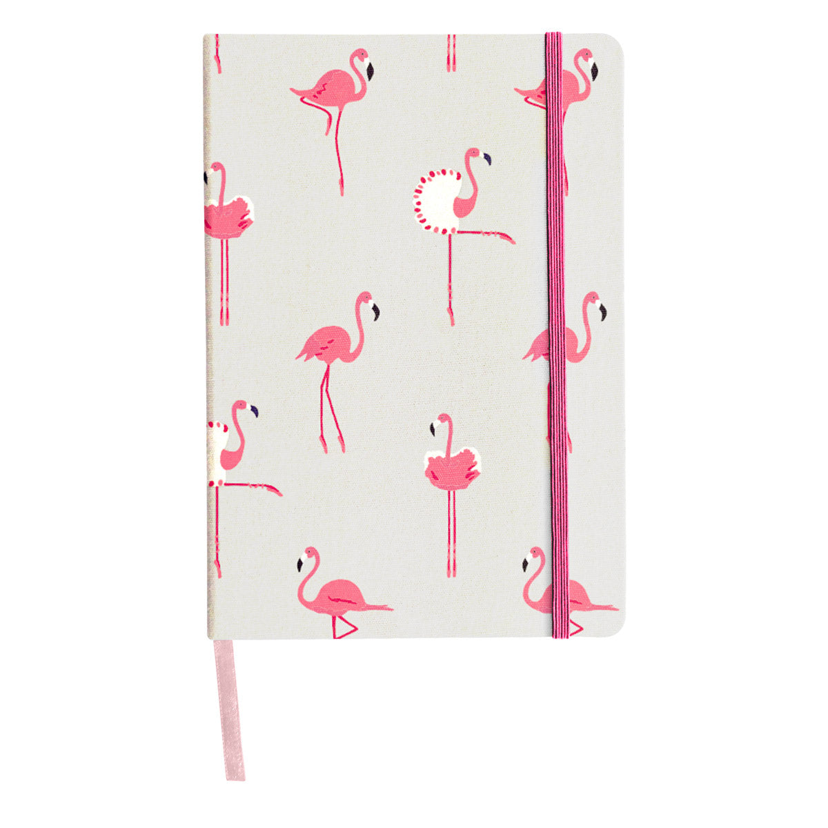 Flamingos A5 Fabric Notebook