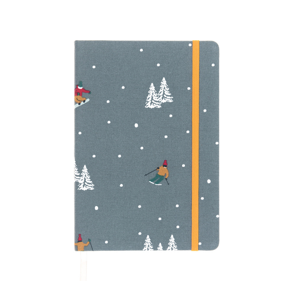Skiing A5 Fabric Notebook