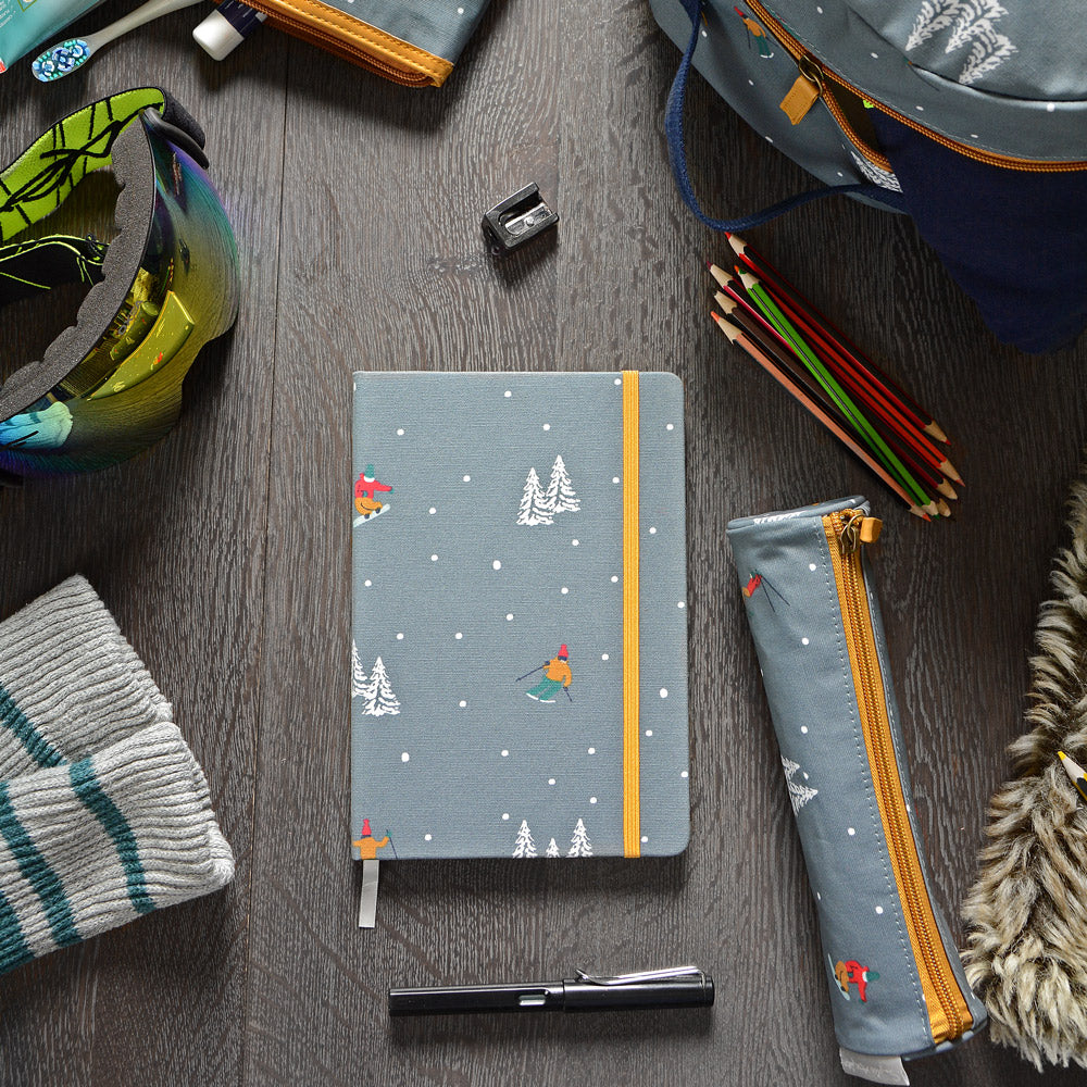 Skiing Small Oilcloth Pencil Case