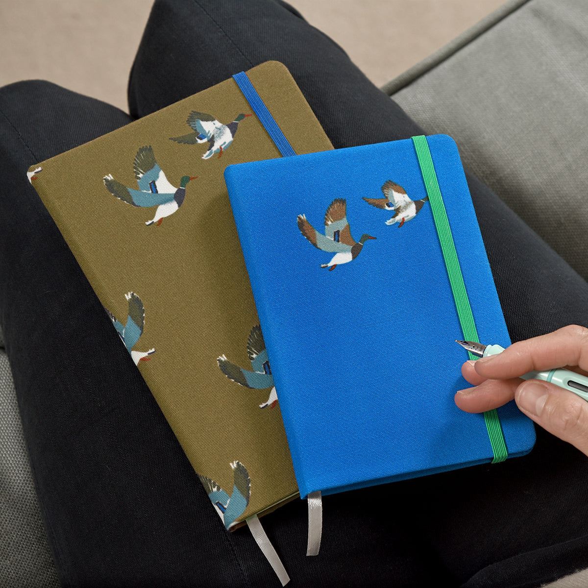 Ducks Small Fabric Notebook