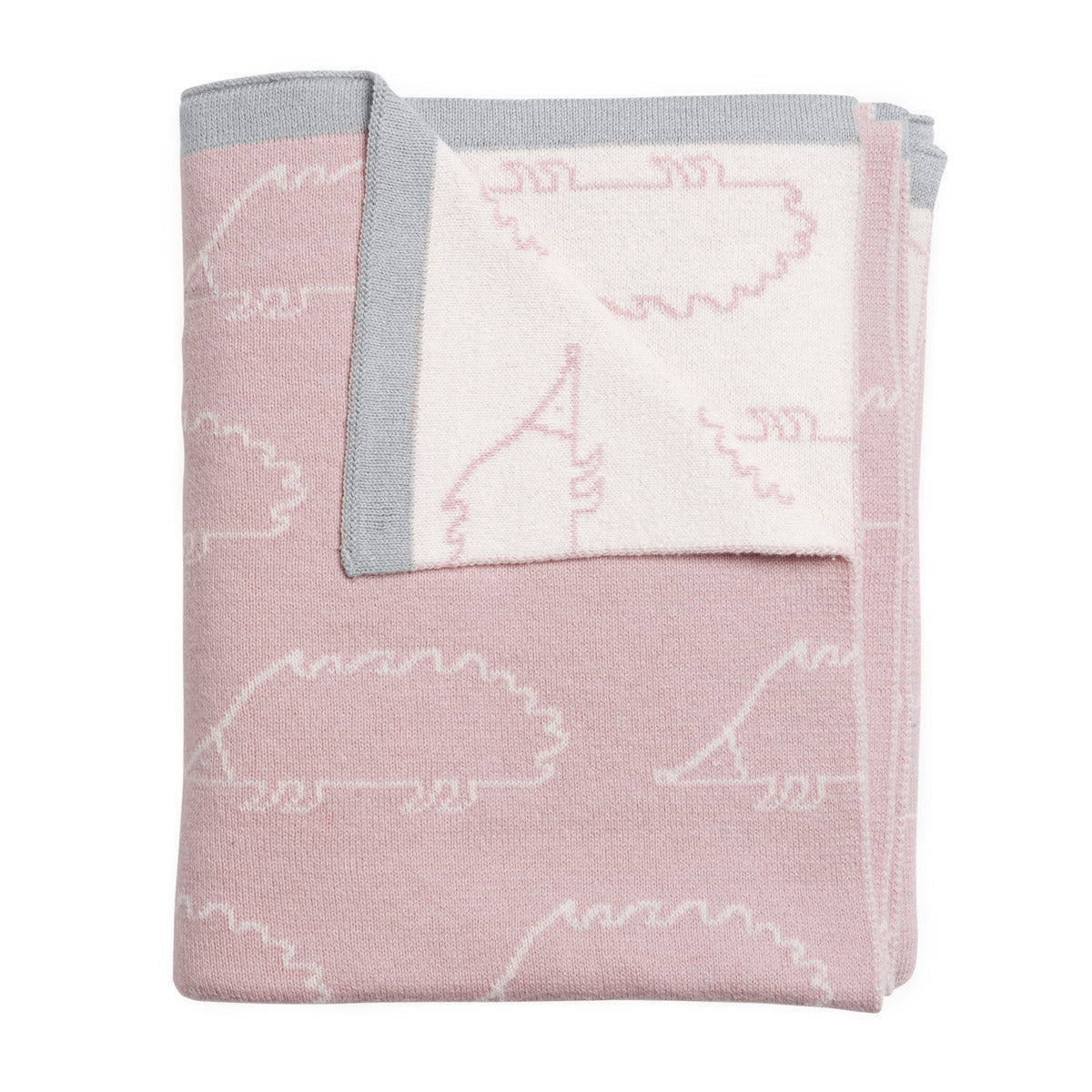 Pink Hedgehog Baby Blanket