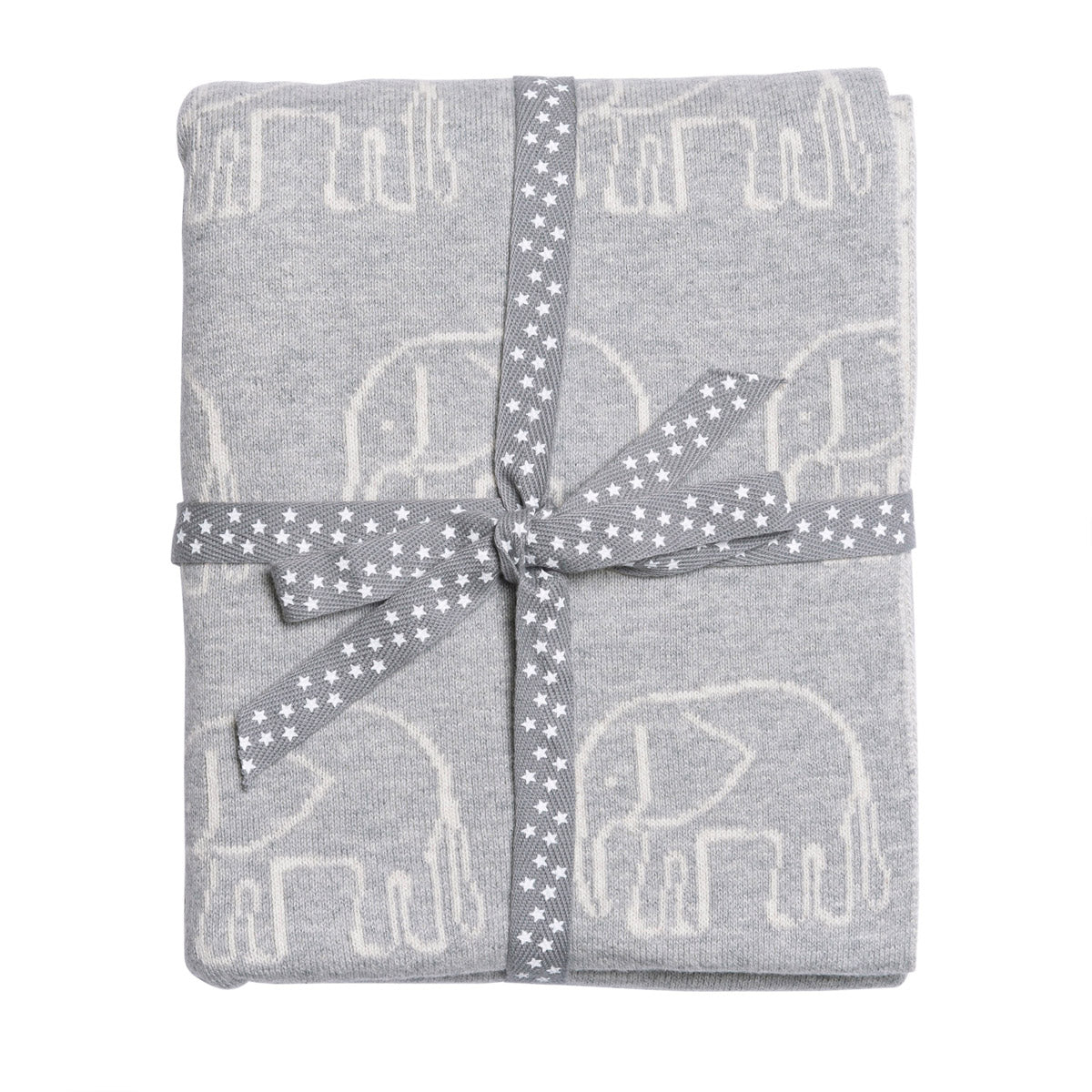 Grey & Green Elephant Blanket