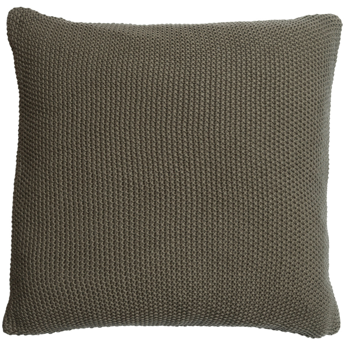 Sage Green Knitted Cushion