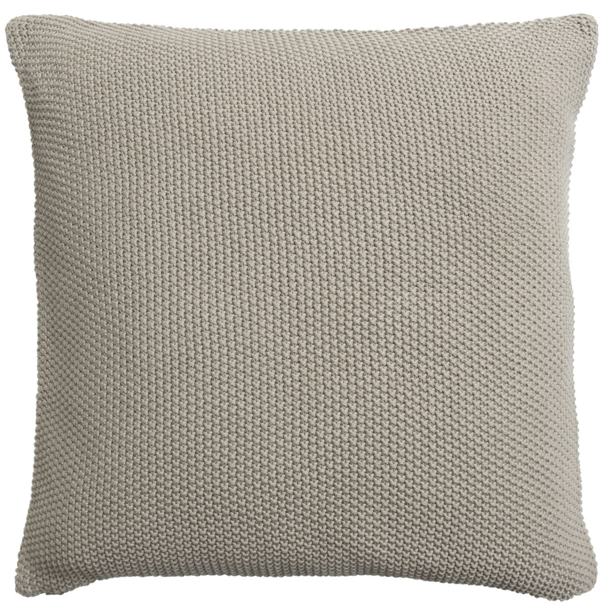 Grey Taupe Knitted Cushion
