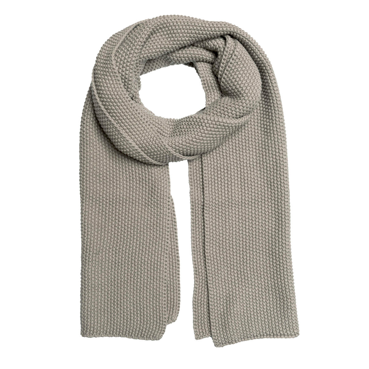 Grey Taupe Knitted Scarf