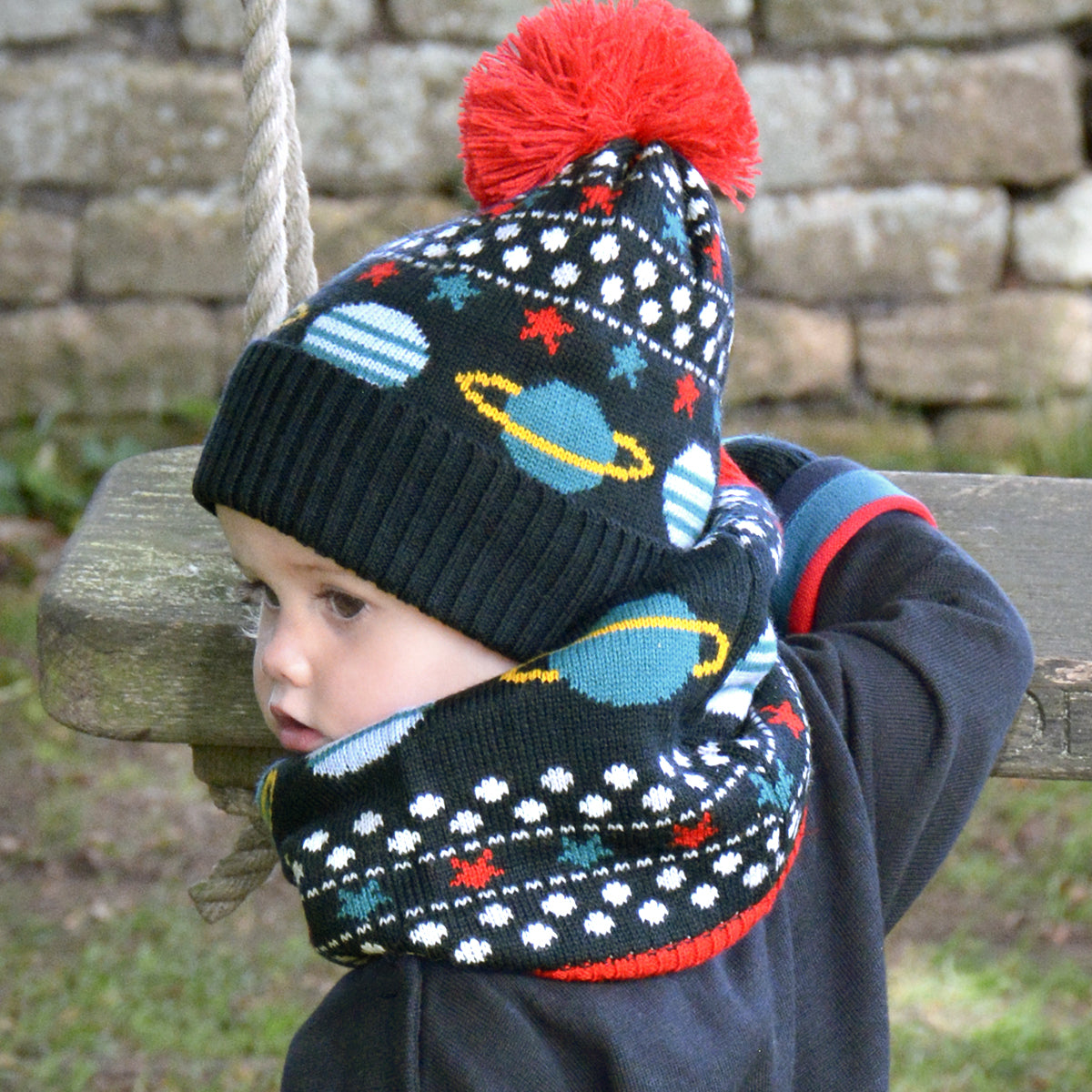 Space Knitted Kids Snood