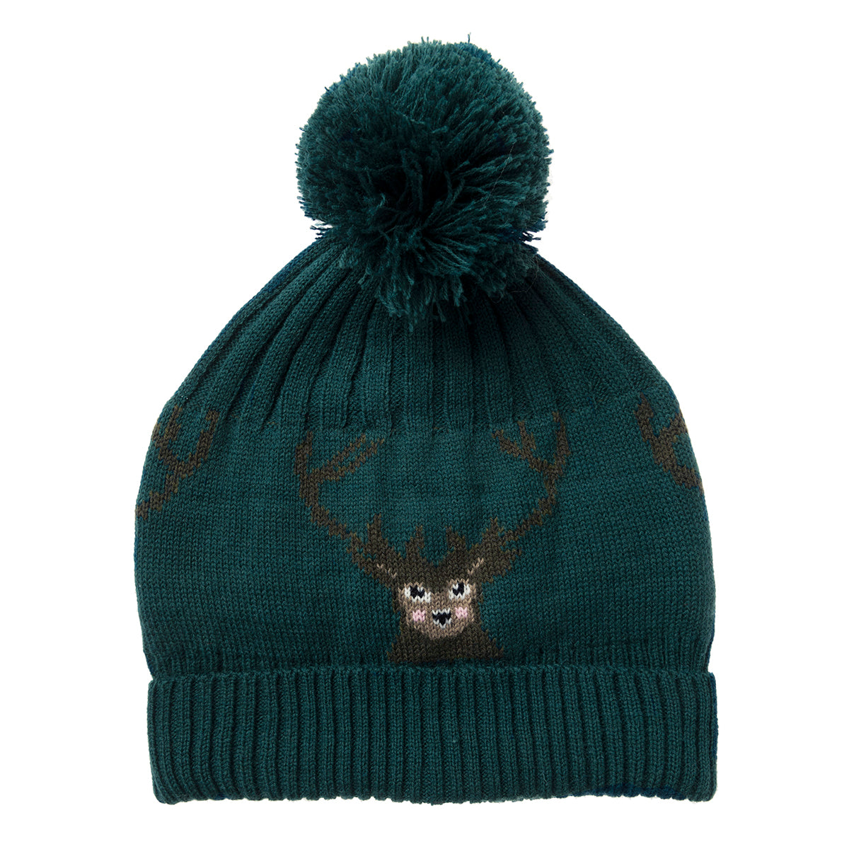 Highland Stag Knitted Hat