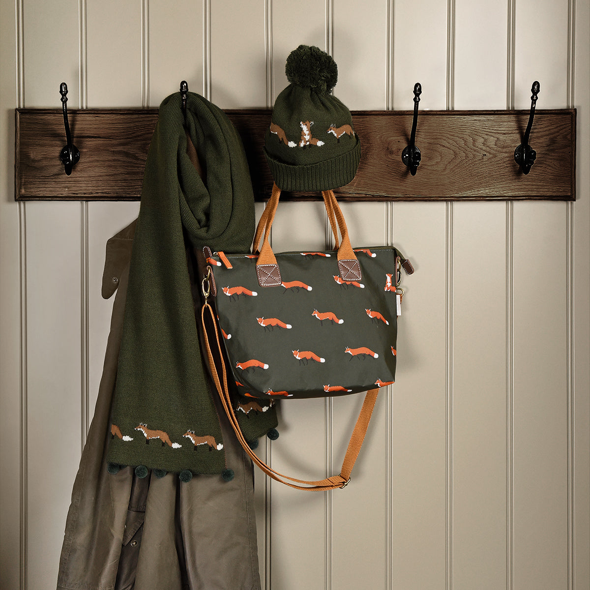 Foxes Mini Oilcloth Oundle Bag