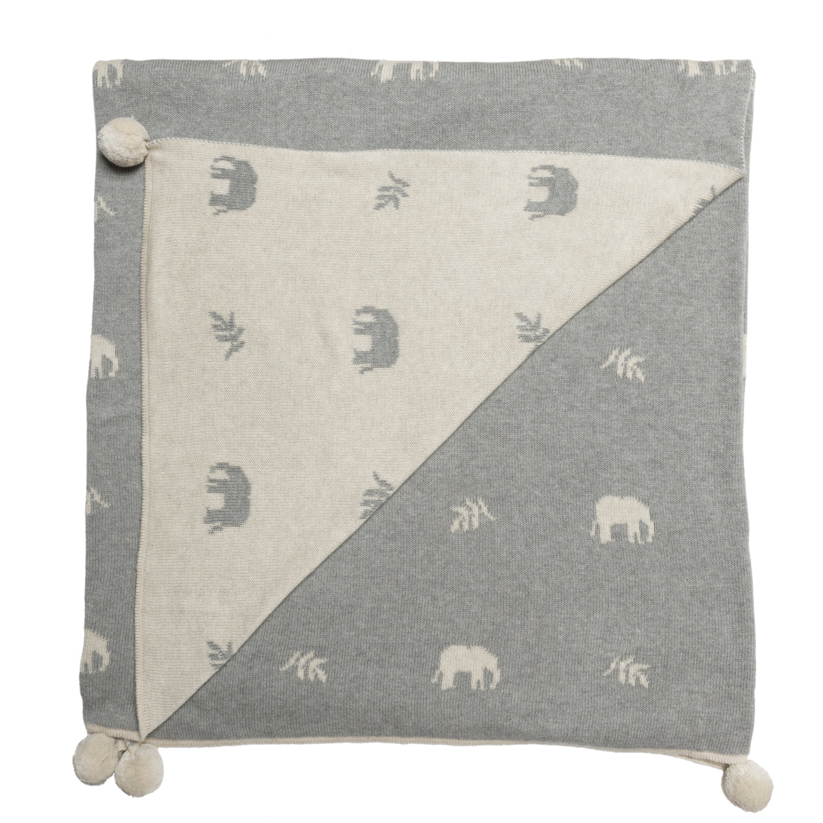 Elephant Knitted Throw