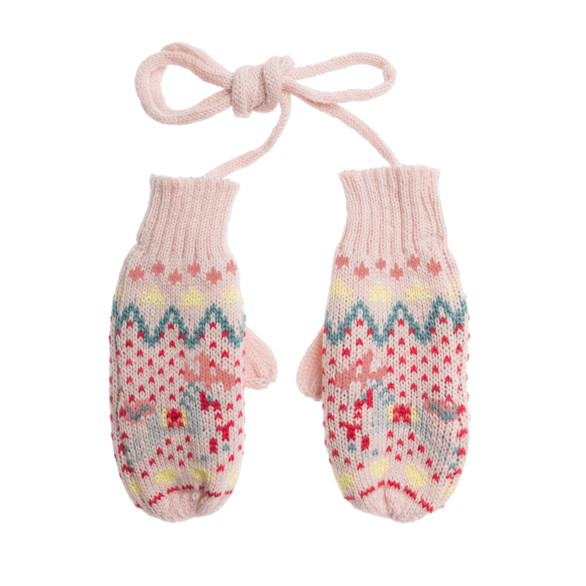 Knitted kids mittens for winter