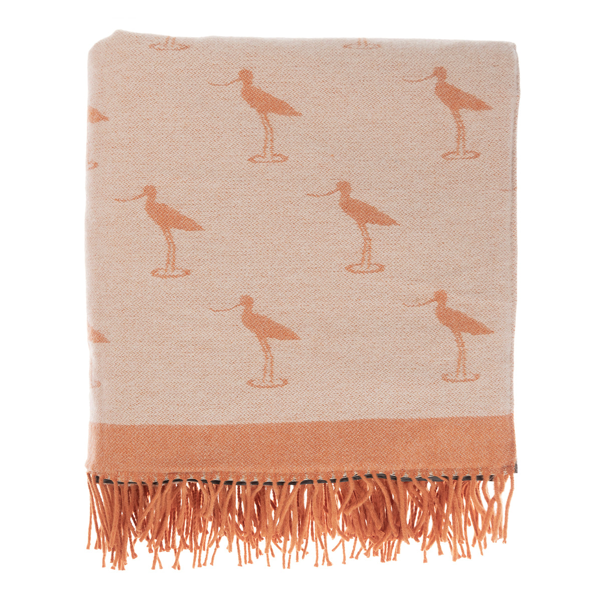 Coastal Birds Knitted Picnic Blanket