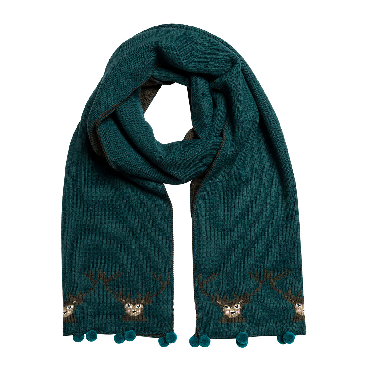 Highland Stag Knitted Scarf