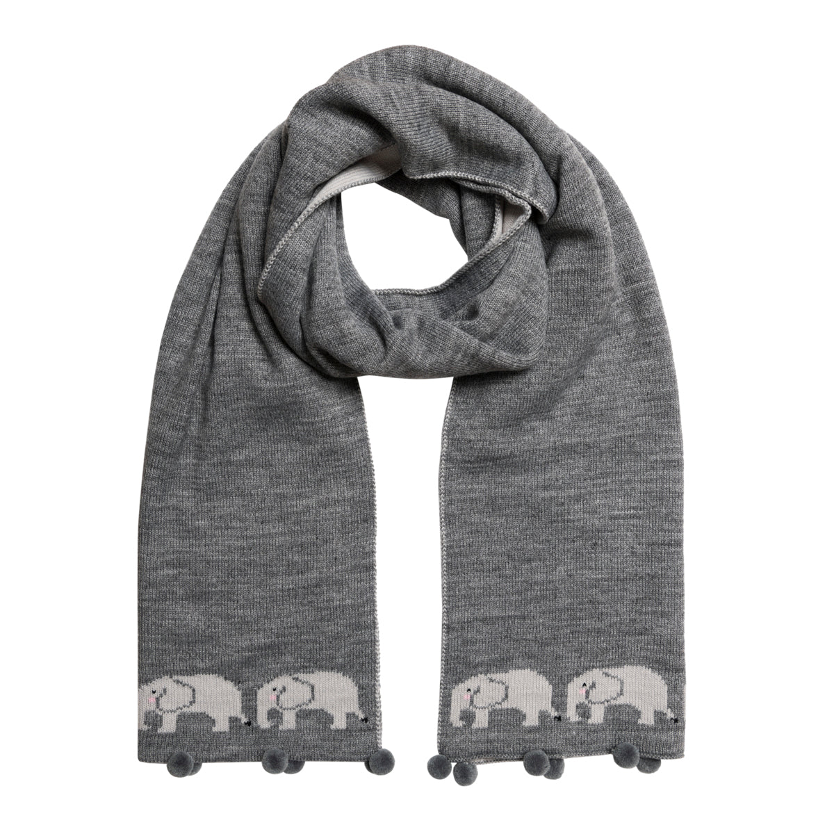 Elephant Knitted Scarf