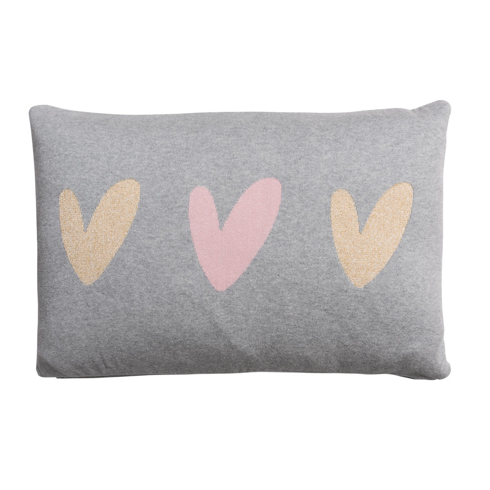 Heart Knitted Statement Cushion