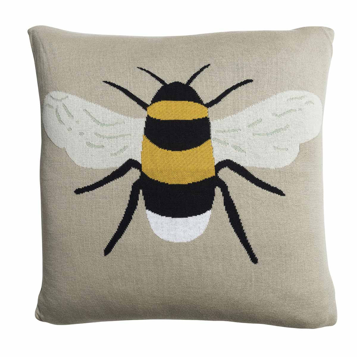 Bees Knitted Statement Cushion