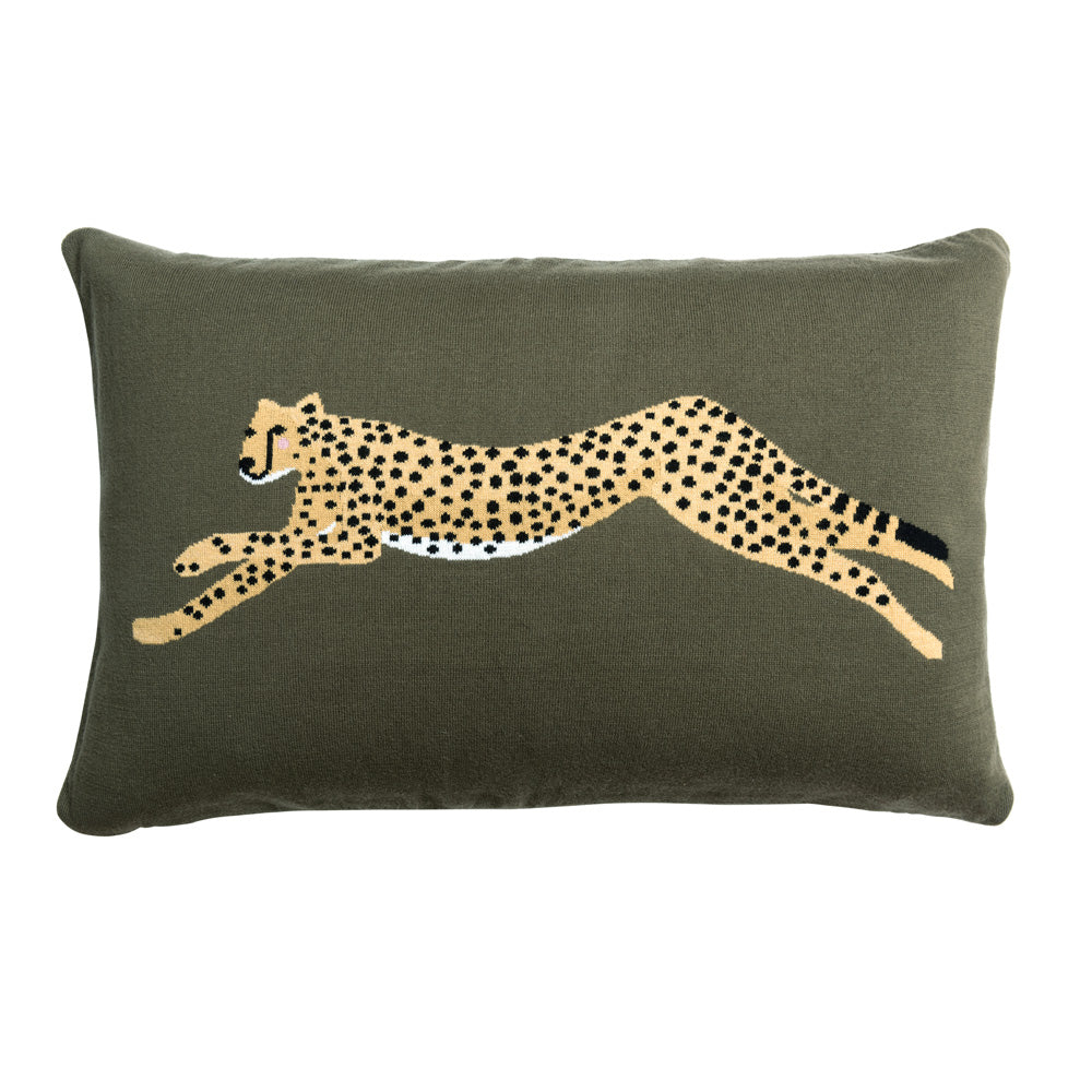 Cheetah Knitted Statement Cushion