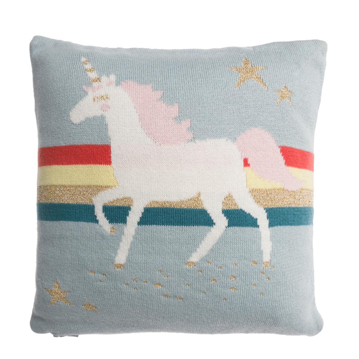 Unicorn Kids Knitted Cushion by Sophie Allport